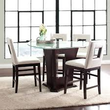 counter height glass dining table triangle dining table set 5 piece glass dining set home dining counter height