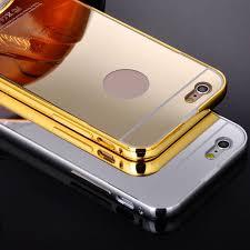 mirror iphone 7 plus case. shockproof aluminum metal bumper back mirror case cover for iphone se 6s 7 plus iphone