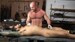 Gay male bondage video