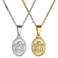 whole holy spirit cupid necklace pendant gold color cross necklaces for women men ity religious fashion gift red pendant necklace custom