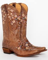 zoomed image shyanne women s fl embroidered western boots brown