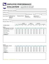 Employee Appraisal Form Employees Comments On Performance Sample Employee Appraisal