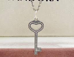 whole high quality 925 sterling silver unlock my heart with clear cz necklace for european pandora style charms and beads pendants gold chains diamond