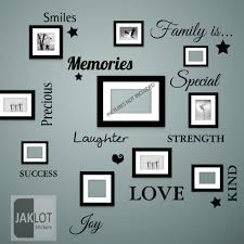 on wall art lettering words with family is words wall art quote vinyl decal stickers home decor ebay