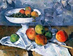 cezanne painting still life with fruit dish by paul cezanne