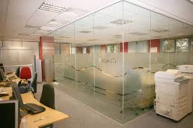 clear office. Decorations:Charming Glass Wall Without Frame For Office Meeting Room Divider Complete With Black Clear