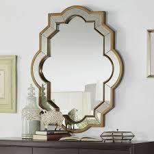 paisley oval quatrefoil brown frame