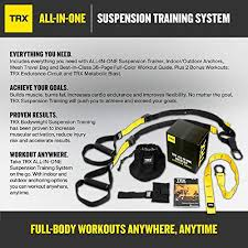 Trx All In One Suspension Training System Full Body Workouts For Your Home Gym Travel And Outdoors Includes Indoor Outdoor Anchors Workout