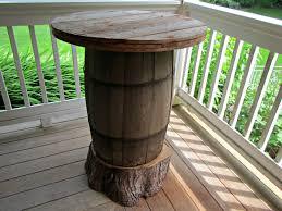 wood barrel furniture. Wooden Barrel Table Wood Furniture