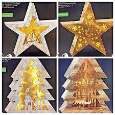 Led Holzdekoration Weihnachtsdeko Stern Timer Weihnachten