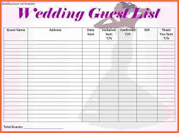 Printable Wedding Guest List Organizer Free Printable Wedding Planner Of 3 Wedding Guest List
