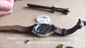 Relic Watch Battery Chart How To Replace A Fossil Watch Battery