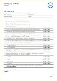 Employee Exit Interview Checklist Employee Exit Interview Checklist Barca Fontanacountryinn Com