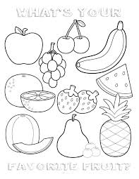 Free Fruit Coloring Sheets Fruit Basket Coloring Pages Free