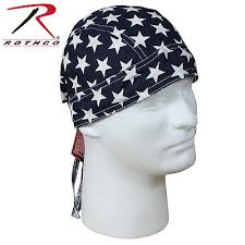 Do Rag Pattern Unique COTTON BIKER HEADWRAP American Flag Pattern DoRag Bandana 48 Colors