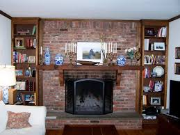 fireplace painted brick fireplace ideas update red makeover all home and decor outdoor image of