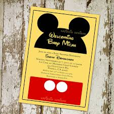 Mickey Mouse Baby Shower Invitations Printable Barca