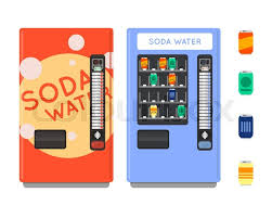 Credit Card Vending Machine Adorable Vending Machine Vector Set Sell Snacks And Soda Drinks Vending