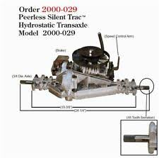 murray transaxle parts accessories peerless hydrostatic transaxle model 2000 029 murray snapper p n 7102770 new