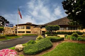 the building where the hotel is located the swimming pool at or near hilton garden inn monterey