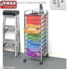 rolling office cart. Rolling Office Cart Drawer Metal Utility Organizer Studio Storage Home Shelf .