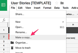 User Story Requirements Template User Story Insights Using Google Sheets Metal Toad