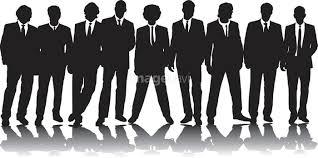 ビジネスパーソン シルエット 9人 ビジネス 抽象的の画像素材19010549