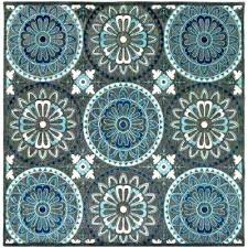 6x6 round outdoor rug antique medallion grey square rugs area and more 6 x indoor