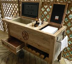 rustic outdoor patio cooler bar that s awesome dude small outdoor barns small outdoor bar sets