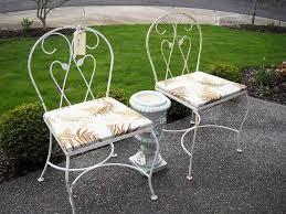 Appealing Vintage Metal Outdoor Furniture Retro Metal Patio