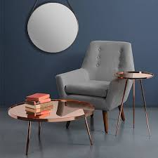 retro high gloss copper side table and coffee table