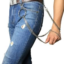 Alloy Jeans Size Chart Fashion Alloy Pants Chain With Large Metal Ring Trousers Chain Punk Hip Hop Trendy Chain On Jeans Clothing Accessories Belt Size Chart Batman Belt