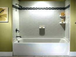 bathtub surround shower wall options tub surround ideas bathtub and intended for one piece prepare 4