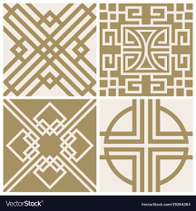 Asian Patterns Classy Traditional Japan Asian Seamless Patterns Vector Image