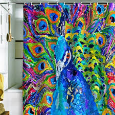 colorful shower curtains. Peacock Shower Curtains In 10 Colorful And Eccentric Designs T