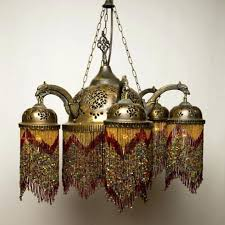 full image for moroccan chandeliers moroccan lighting fixtures brass red beaded morocaan chandeliers moroccan lamps syrian