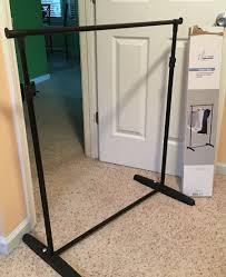 Easy Cheap Diy Backdrop Stand Using A Garment Rack Height