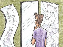 looking in mirror different reflection drawing. mirrors looking in mirror different reflection drawing i