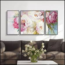 3 piece canvas wall art blooming peony painting waterproof canvas painting cheap modern picture paintings by on canvas wall art cheap with 3 piece canvas wall art blooming peony painting waterproof canvas