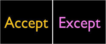 Difference Between Accept and Except (with Examples and Comparison Chart) - Key Differences
