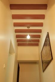 false ceiling wooden rafter designs