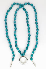 Simon Sebbag Designs Simon Sebbag Designs Teal Crystal Lariat Necklace With Sterling Silver Loop