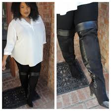 wide width over the knee boots image