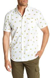 Patterned Short Sleeve Button Down