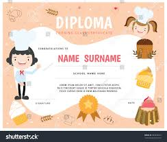 cooking school kids diploma certificate stock vector  cooking school kids diploma certificate stock vector 364418912 shutterstock