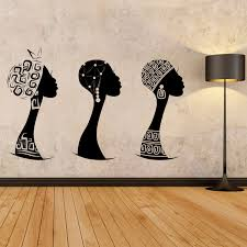zoom on african woman wall art with african women wall decal african woman profile wall vinyl