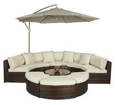 monaco round sofa set outdoor rattan garden furniture with coffee table