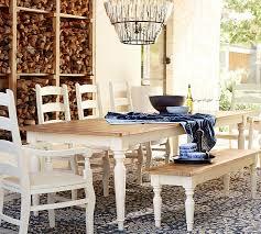 creative idea pottery barn white dining table pearson extending