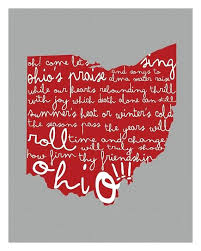 canvas ohio state state university wall art by on o h i o