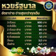 หวยรัฐบาล กับเว็บหวยที่ดีที่สุด huaydee จ่ายบาทละ 900 - หวยดี